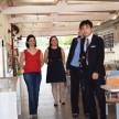 Vice-Cônsul em visita à unidade, após a reforma, acompanhado pela Diretora do Colégio Marcela Mortari e pela Gerente Educacional Ana Carlota Niero