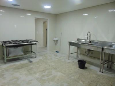 Cozinha com o novo piso