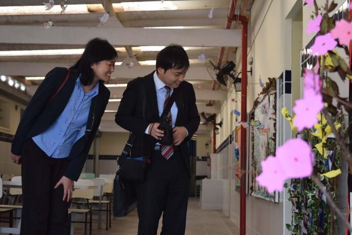 Vice Cônsul e a representante do Departamento Econômico do Consulado em visita à unidade.